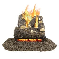 Pleasant Hearth Willow Oak  Fireplace Log Set  42 lb.