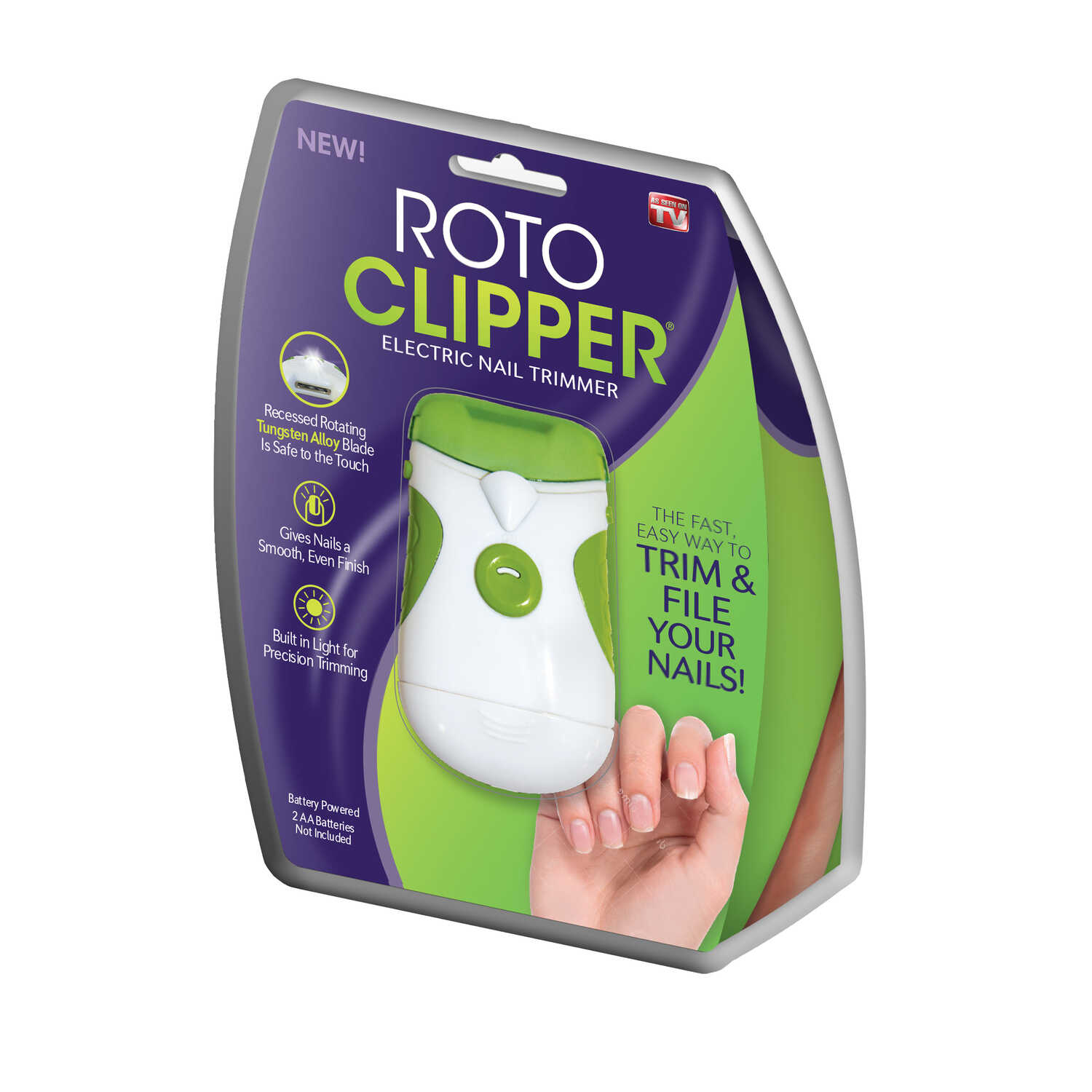 Roto Clipper  As Seen On TV  Green/White  Nail Care System  8.15 inches High  1 pk