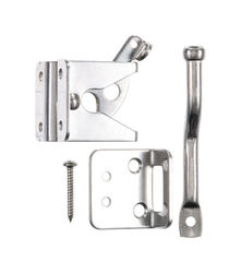 Ace  7.5 in. H x 2 in. W x 4 in. L Stainless Steel  Adjustable Gate Latch