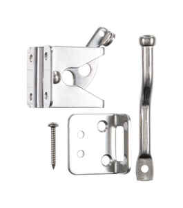 Ace  6.89 in. H x 5 in. W x 1.76 in. L Stainless Steel  Adjustable Gate Latch