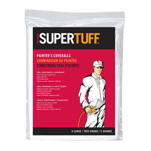 Trimaco  SuperTuff  Polypropylene  Coveralls  White  XL  1 pk
