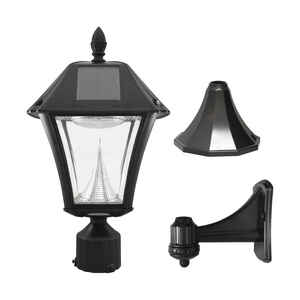 Gama Sonic  Baytown  Black  Solar Powered  LED  Lantern  1 pk