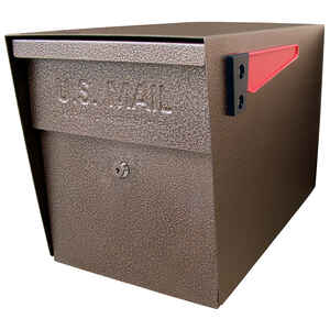 Mail Boss  Classic  Galvanized Steel  Curbside  Bronze  Lockable Mailbox  13-1/4 in. H x 11-1/4 in.