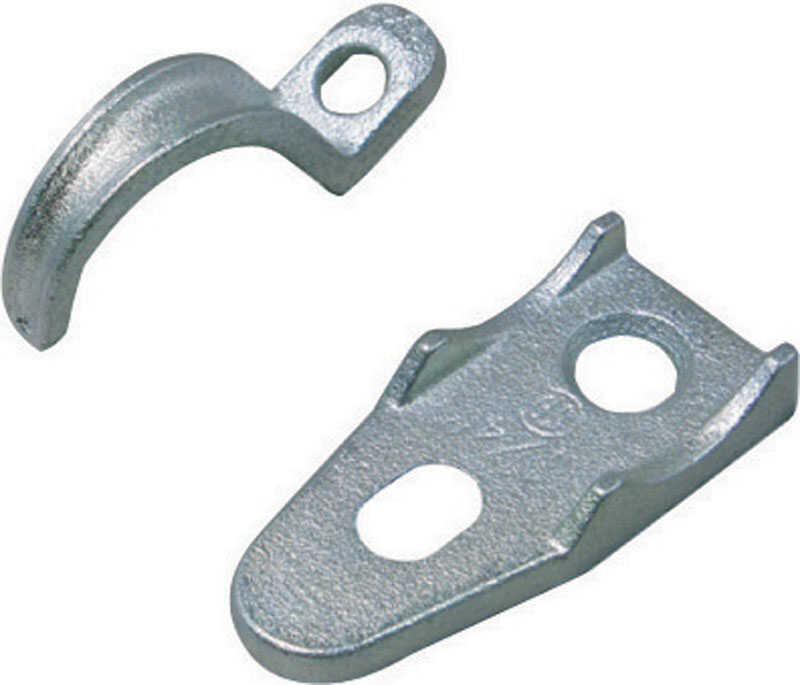 Sigma  1/2 in. Dia. Zinc-Plated Iron  Clamp Back and Strap  1 pk