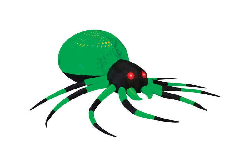 Gemmy  Phantasm Spider  Lighted 96 in. H x 31.5 in. W x 96 in. L 1 pk Halloween Inflatable