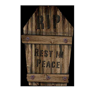 Fun World  RIP Rest In Peace Tombstone  Halloween Decoration  22 in. H x 1 in. W x 14 in. L 1 pk