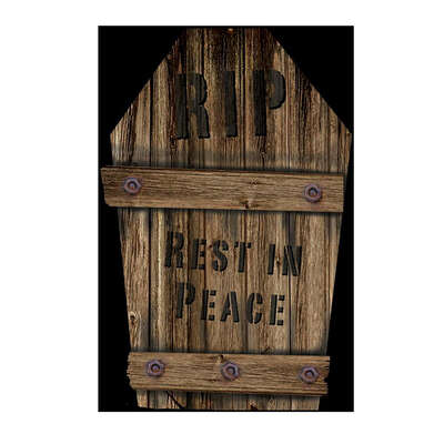 Fun World  RIP Rest In Peace Tombstone  Halloween Decoration  22 in. H x 1 in. W 1 pk