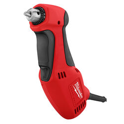 Milwaukee  3/8 in. Keyed  Corded Angle Drill  3.5 amps 1300 rpm