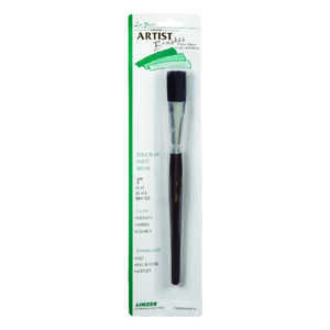 Linzer  1 in. W Flat  Black China Bristle  Touch-Up Paint Bursh
