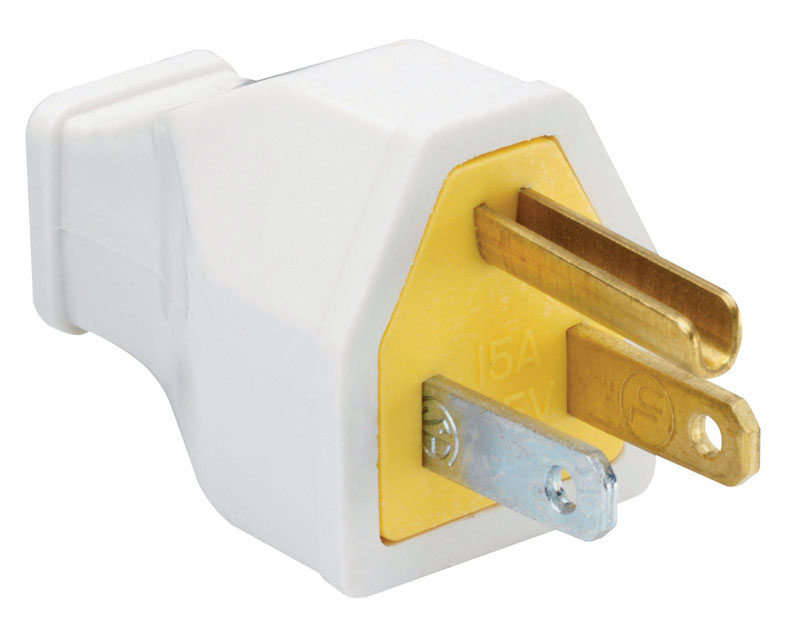 Pass & Seymour  Commercial and Residential  Thermoplastic  Straight Blade  Connector  5-15P  14 AWG