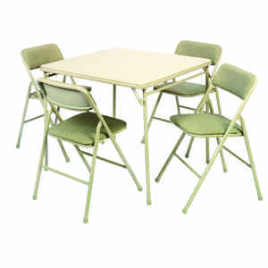 Cosco  28 in. H x 34 in. W x 34 in. L Square  Folding Table Set