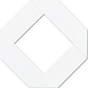 Grid Axcents  48 in. W x 8 ft. L White  Plastic  Lattice Panel