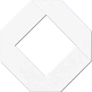 Master Mark  48 in. W x 96 in. L White  Plastic  Lattice Panel