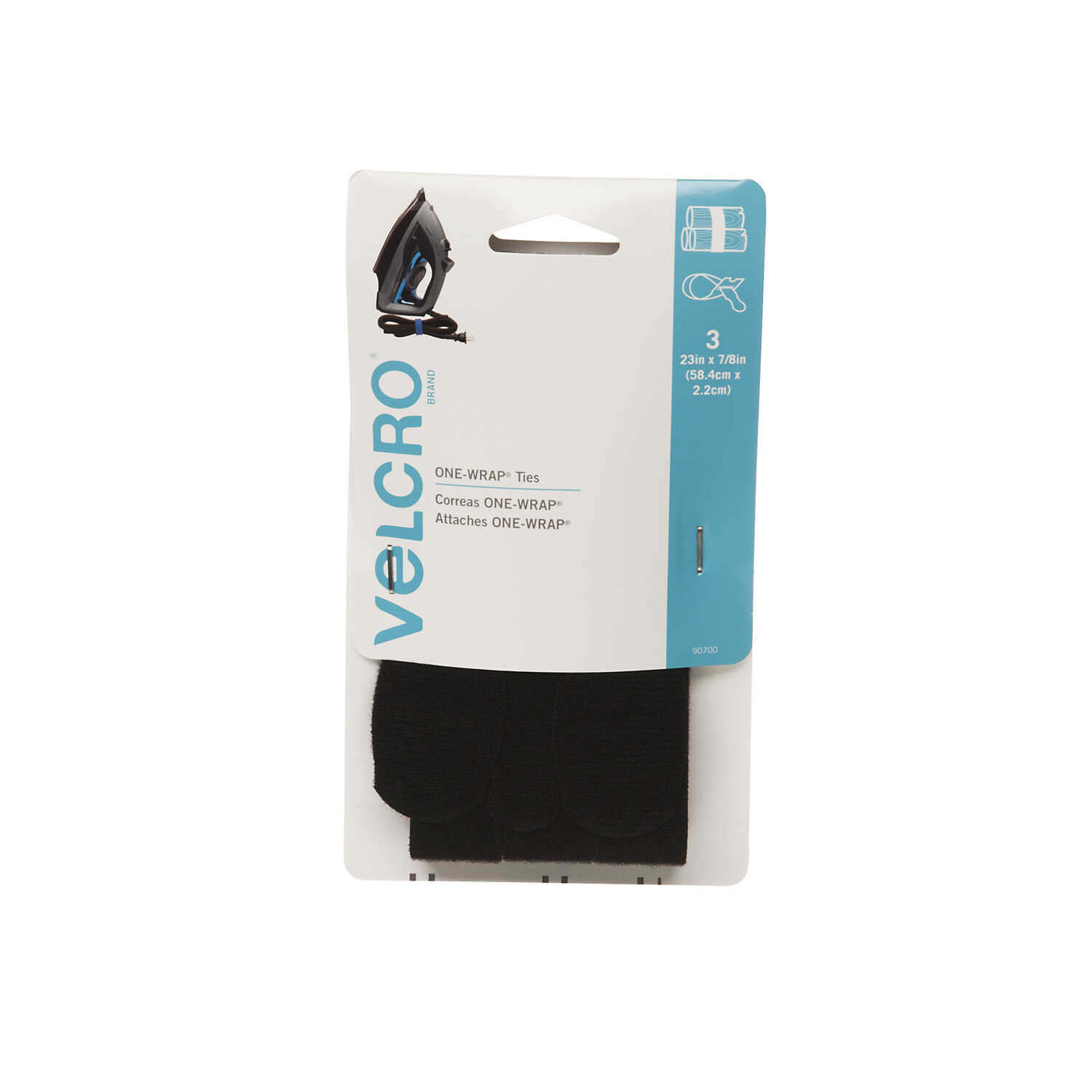 Velcro  One-Wrap  23 in. L 3 pk Strap