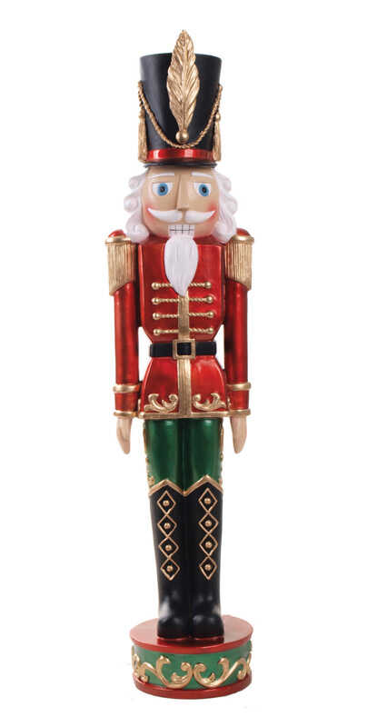 Celebrations  Nut Cracker Soldier  Holiday Decoration  1 pk Resin  Multicolored
