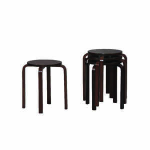 Linon Home Decor  Dark Brown  Wood  Contemporary  Bentwood Stool