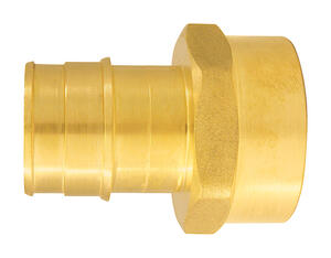 Apollo  Expansion PEX / Pex A  1 in. PEX   x 1 in. Dia. FPT  Brass  Female Adapter