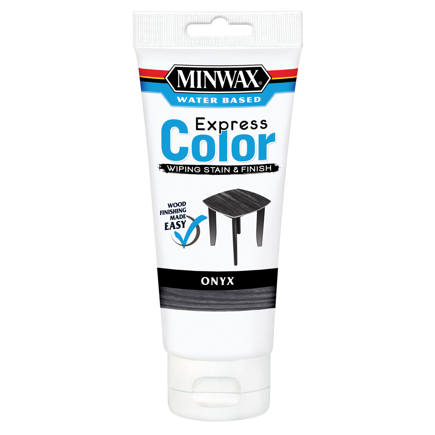 Minwax  Express Color  Semi-Transparent  Onyx  Water-Based  Acrylic  Wiping Stain and Finish  6 oz.