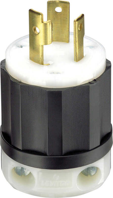 Leviton  Industrial  Nylon  Grounding  Plug  L5-30P  2 Pole 3 Wire