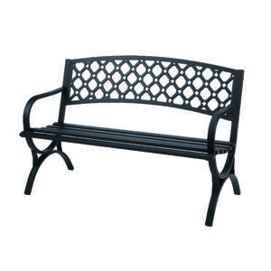 Living Accents  Park Bench  Steel  23.4 in. D x 33.5 in. H