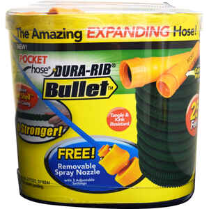 Telebrands  Bulbhead  5/8 in. Dia. x 25 ft. L Expanding  Green  Garden Hose
