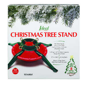 Jack-Post  Metal  Green/Red  8 ft. Maximum Tree Height Christmas Tree Stand