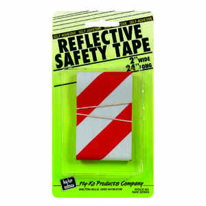 Hy-Ko  2 in. Rectangle  Red/Silver  Reflective Safety Tape  1 pk