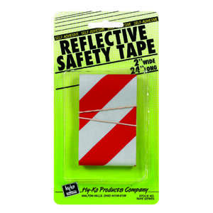 Hy-Ko Safety Tape 2 X 24 Red, Silver