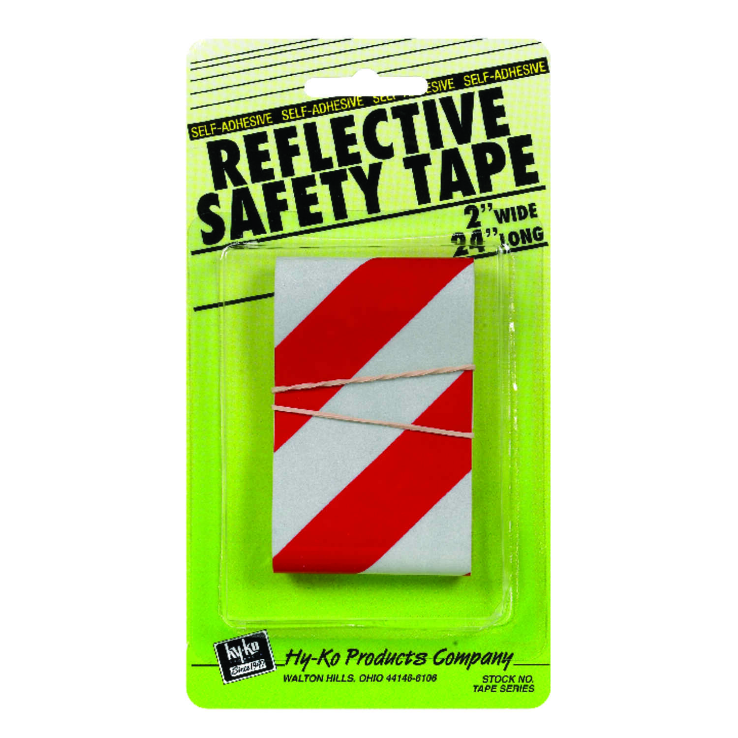 Hy-Ko  24 in. Rectangle  Red/Silver  Reflective Safety Tape  5