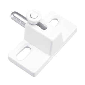 Prime-Line  White  Die-Cast Zinc  1  Sliding Door and Window Lock