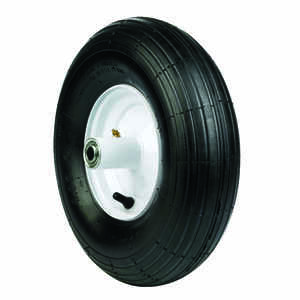 Arnold  6 in. Dia. x 14 in. Dia. 445 lb. capacity Centered  Wheelbarrow Tire  Rubber
