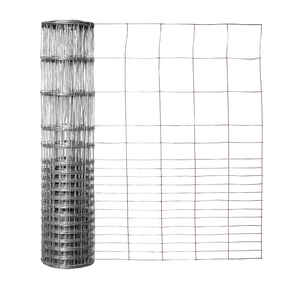 Garden Zone  28 in. H x 50 ft. L Galvanized Steel  Garden  Fence  Silver