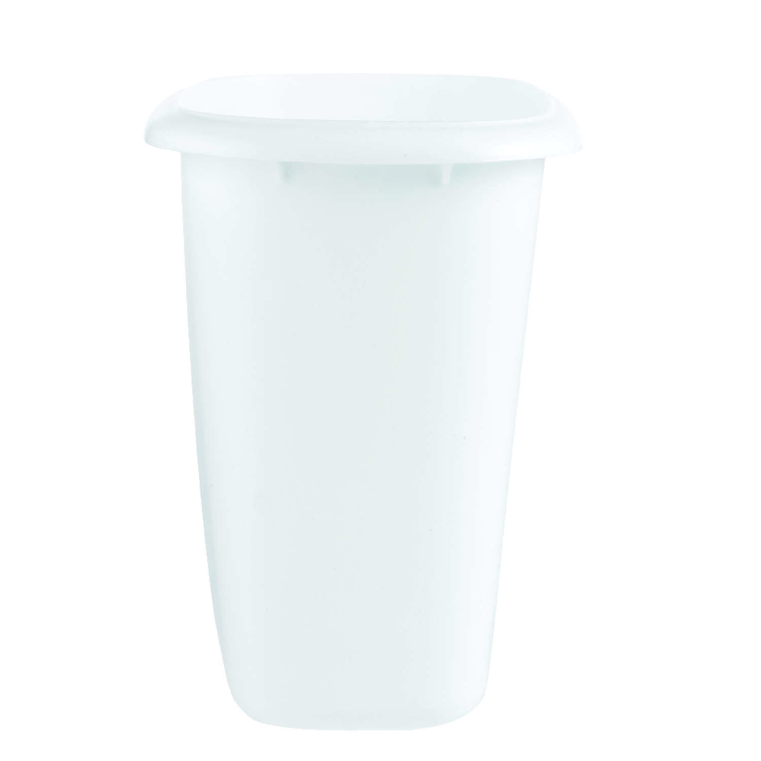 Rubbermaid 1.5 gal. White Plastic Vanity Wastebasket