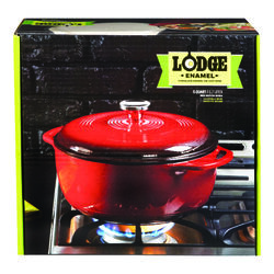Lodge  Cast Iron  Dutch Oven  10.5 in. 6  Red