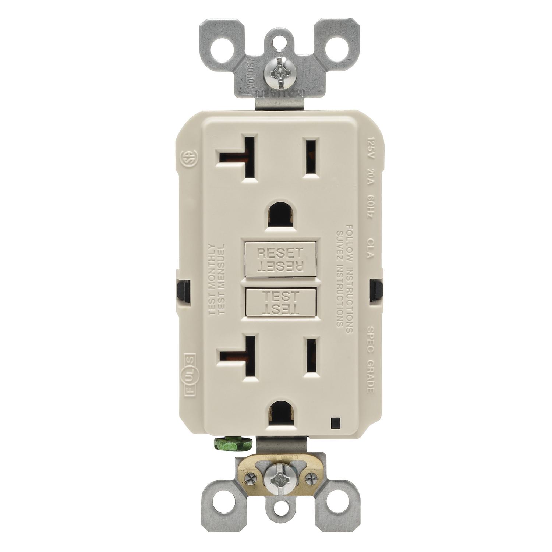 Leviton 20 Amps 125 Volt Light Almond Gfci Outlet 5