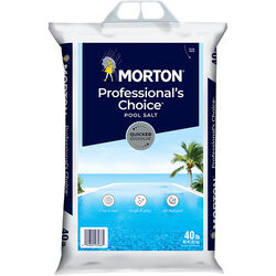 Morton Salt Professionals Choice Pool Salt Quicker Dissolve Granule Pool Salt 40 lb.