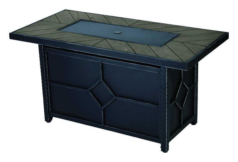 Living Accents Rectangular Propane Fire Pit 24 in. H x 24 in. D x - Living Accents Rectangular Propane Fire Pit 24 In. H X 48 In. W X 24