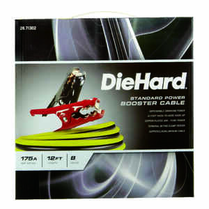 DieHard  12 ft. 8 Ga. Standard Booster Cable  175 amps
