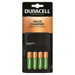 Duracell  4 Battery Rechargeable Battery Charger