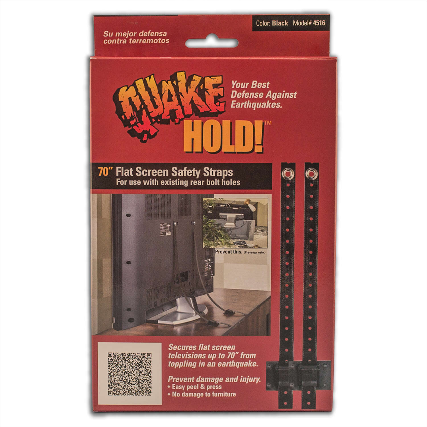 Quake Hold  10 in. to 70 in. 150 lb. capacity Flat Screen Safety Strap