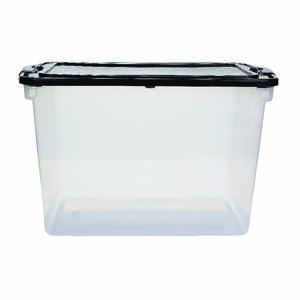 Homz  Latching  28.75 in. H x 18.25 in. W x 16 in. D Stackable Storage Box