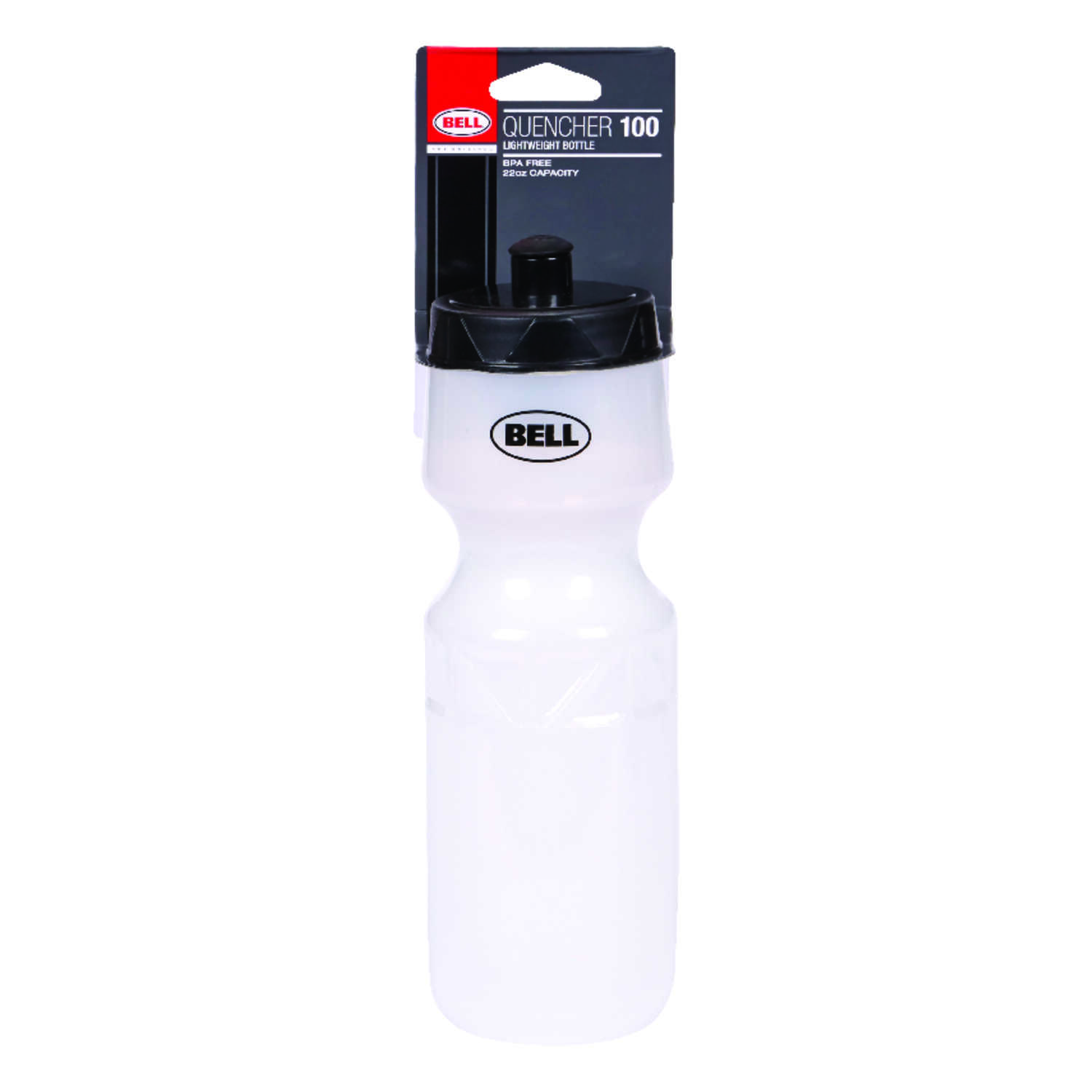 Bell Sports  Quencher 100  Plastic  Water Bottle  22 oz.  Clear