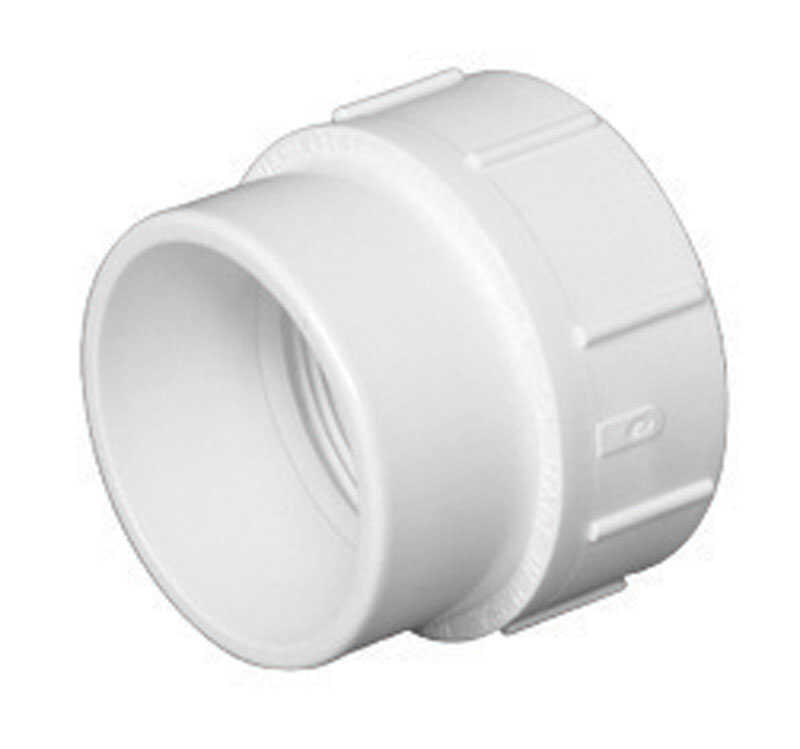 Charlotte Pipe  Schedule 40  1-1/2 in. Spigot   x 1-1/2 in. Dia. FPT  PVC  Adapter