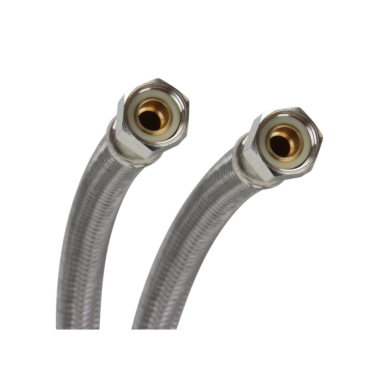 Fluidmaster  3/8 in. Compression   x 3/8 in. Dia. Compression  60 in. Stainless Steel  Supply Line