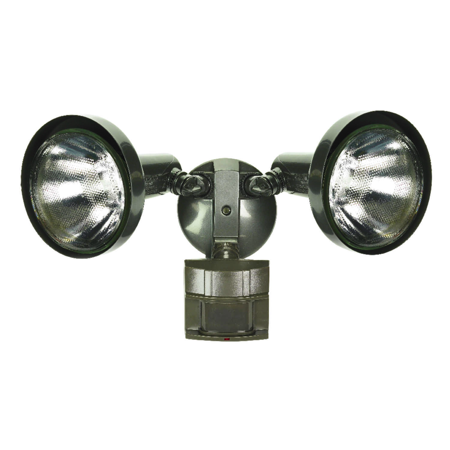 Heath Zenith  Motion-Sensing  Hardwired  Halogen  Bronze  Floodlight