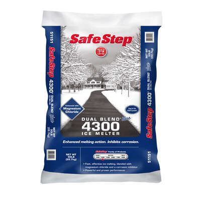 Safe Step Dual Blend 4300 Sodium Chloride and Magnesium Chloride Granule Ice Melt 50 lb.