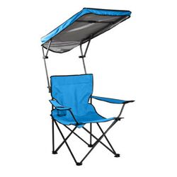 Quik Shade Basic Adjustable Blue Canopy Folding Folding Chair
