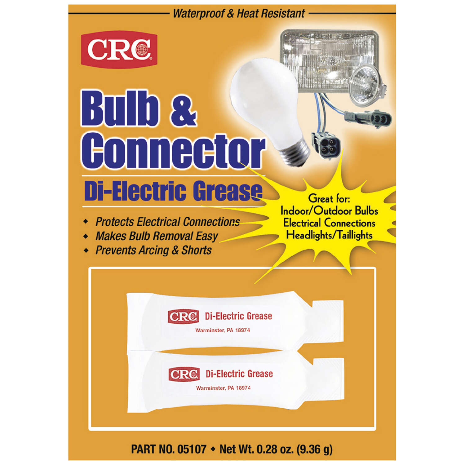 CRC Silicone Dielectric Bulb Grease 0.28 oz.