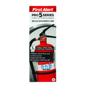 First Alert  Pro 5 Series  5 lb. Fire Extinguisher  For Household OSHA/US Coast Guard Agency Approva
