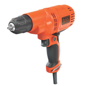 Black and Decker  3/8 in. Keyless  Corded Drill  Bare Tool  5.2 amps 1500 rpm